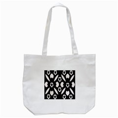 Abstract Background Pattern Tote Bag (white) by Simbadda
