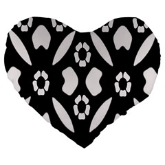 Abstract Background Pattern Large 19  Premium Flano Heart Shape Cushions by Simbadda