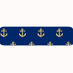 Gold Anchors On Blue Background Pattern Large Bar Mats