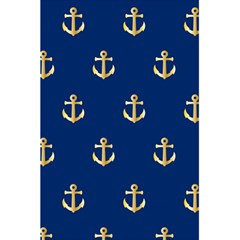 Gold Anchors On Blue Background Pattern 5 5  X 8 5  Notebooks by Simbadda