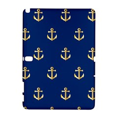 Gold Anchors On Blue Background Pattern Galaxy Note 1 by Simbadda
