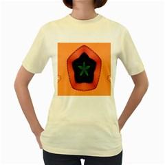 Fractal Flower Women s Yellow T-Shirt