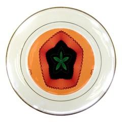 Fractal Flower Porcelain Plates