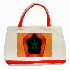 Fractal Flower Classic Tote Bag (red) by Simbadda