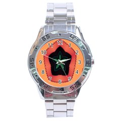 Fractal Flower Stainless Steel Analogue Watch by Simbadda