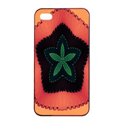 Fractal Flower Apple Iphone 4/4s Seamless Case (black) by Simbadda