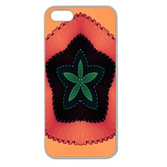 Fractal Flower Apple Seamless iPhone 5 Case (Clear)