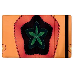Fractal Flower Apple Ipad 2 Flip Case by Simbadda