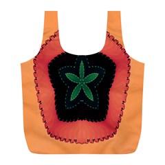 Fractal Flower Full Print Recycle Bags (L)