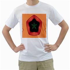 Fractal Flower Men s T-Shirt (White)