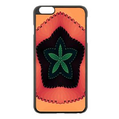 Fractal Flower Apple iPhone 6 Plus/6S Plus Black Enamel Case