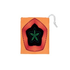 Fractal Flower Drawstring Pouches (xs)  by Simbadda