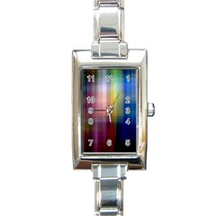 Colorful Abstract Background Rectangle Italian Charm Watch by Simbadda