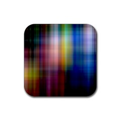 Colorful Abstract Background Rubber Square Coaster (4 Pack)  by Simbadda
