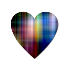 Colorful Abstract Background Heart Magnet by Simbadda