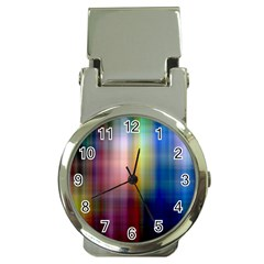 Colorful Abstract Background Money Clip Watches by Simbadda