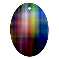Colorful Abstract Background Oval Ornament (two Sides) by Simbadda