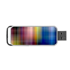 Colorful Abstract Background Portable Usb Flash (two Sides) by Simbadda