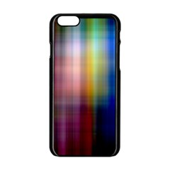 Colorful Abstract Background Apple Iphone 6/6s Black Enamel Case by Simbadda