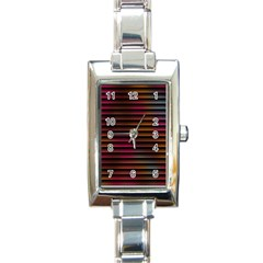 Colorful Venetian Blinds Effect Rectangle Italian Charm Watch by Simbadda