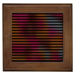 Colorful Venetian Blinds Effect Framed Tiles by Simbadda