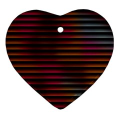 Colorful Venetian Blinds Effect Ornament (heart) by Simbadda