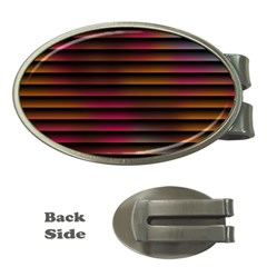 Colorful Venetian Blinds Effect Money Clips (oval)  by Simbadda