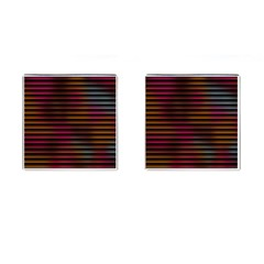 Colorful Venetian Blinds Effect Cufflinks (square) by Simbadda