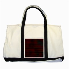 Colorful Venetian Blinds Effect Two Tone Tote Bag by Simbadda