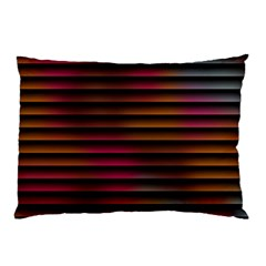 Colorful Venetian Blinds Effect Pillow Case by Simbadda