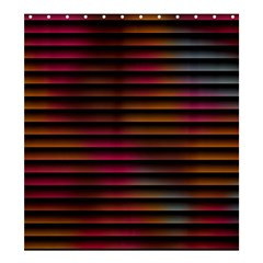 Colorful Venetian Blinds Effect Shower Curtain 66  X 72  (large)  by Simbadda