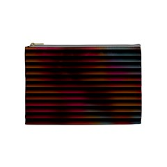 Colorful Venetian Blinds Effect Cosmetic Bag (medium)  by Simbadda