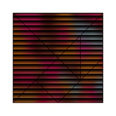 Colorful Venetian Blinds Effect Acrylic Tangram Puzzle (6  X 6 ) by Simbadda
