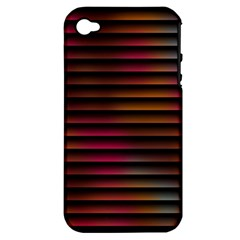 Colorful Venetian Blinds Effect Apple Iphone 4/4s Hardshell Case (pc+silicone) by Simbadda