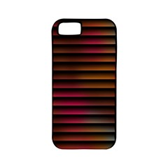 Colorful Venetian Blinds Effect Apple Iphone 5 Classic Hardshell Case (pc+silicone) by Simbadda