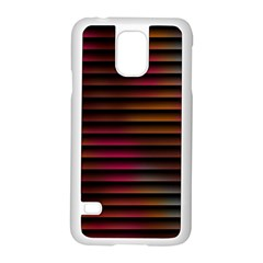 Colorful Venetian Blinds Effect Samsung Galaxy S5 Case (white) by Simbadda