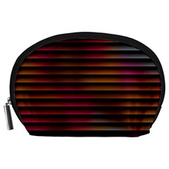 Colorful Venetian Blinds Effect Accessory Pouches (large)  by Simbadda