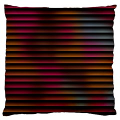 Colorful Venetian Blinds Effect Large Flano Cushion Case (one Side) by Simbadda