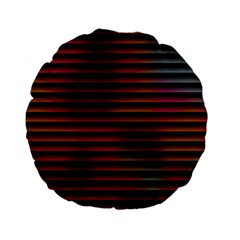 Colorful Venetian Blinds Effect Standard 15  Premium Flano Round Cushions by Simbadda