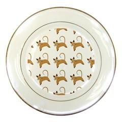 Cute Cats Seamless Wallpaper Background Pattern Porcelain Plates by Simbadda