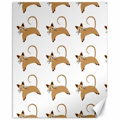 Cute Cats Seamless Wallpaper Background Pattern Canvas 16  X 20   by Simbadda