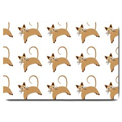 Cute Cats Seamless Wallpaper Background Pattern Large Doormat  by Simbadda