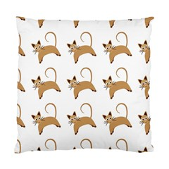 Cute Cats Seamless Wallpaper Background Pattern Standard Cushion Case (one Side) by Simbadda