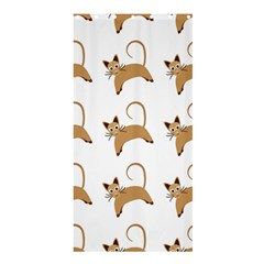 Cute Cats Seamless Wallpaper Background Pattern Shower Curtain 36  X 72  (stall)  by Simbadda