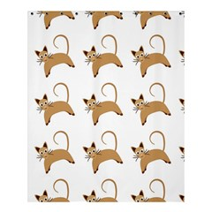 Cute Cats Seamless Wallpaper Background Pattern Shower Curtain 60  X 72  (medium)  by Simbadda