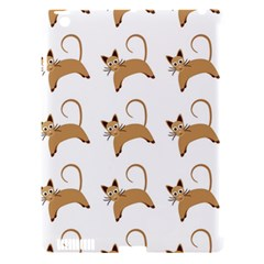 Cute Cats Seamless Wallpaper Background Pattern Apple Ipad 3/4 Hardshell Case (compatible With Smart Cover) by Simbadda