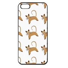 Cute Cats Seamless Wallpaper Background Pattern Apple Iphone 5 Seamless Case (black) by Simbadda