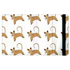 Cute Cats Seamless Wallpaper Background Pattern Apple Ipad 2 Flip Case by Simbadda