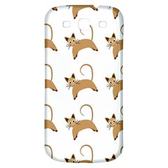 Cute Cats Seamless Wallpaper Background Pattern Samsung Galaxy S3 S Iii Classic Hardshell Back Case by Simbadda