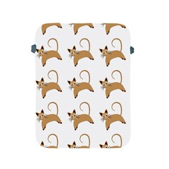 Cute Cats Seamless Wallpaper Background Pattern Apple Ipad 2/3/4 Protective Soft Cases by Simbadda
